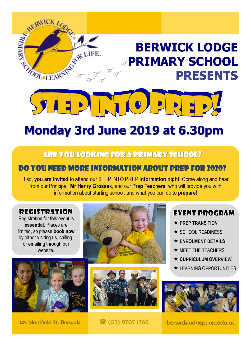 Step into Prep evening