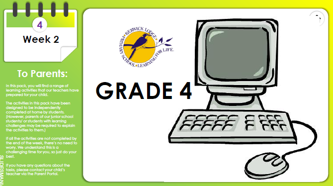 LODGERS REMOTE LEARNING PACK – WEEK 2, TERM 2